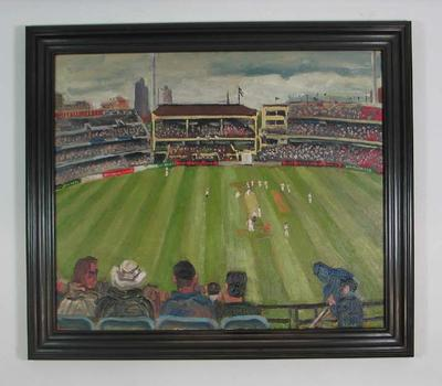 """Oil on canvas, """"The Boxing Day Test, 2001"""" - artist Stephen Armstrong"""