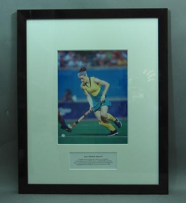 Framed photograph of Claire Mitchell-Taverner
