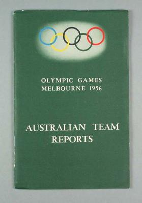 1956 Olympic Games Australian team reports