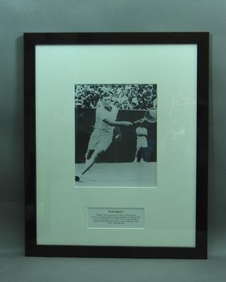 Framed photograph of Frank Sedgman