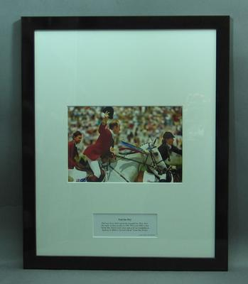 Framed photograph of Andrew Hoy; Photography; Framed; M15232