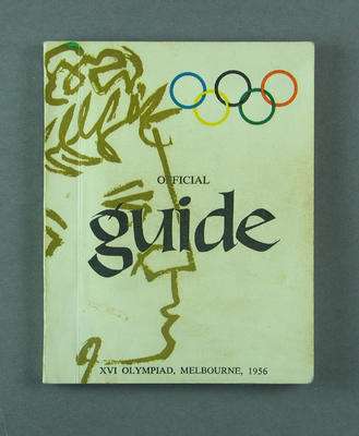 """Book, """"Official Guide"""" - 1956 Melbourne Olympic Games"""
