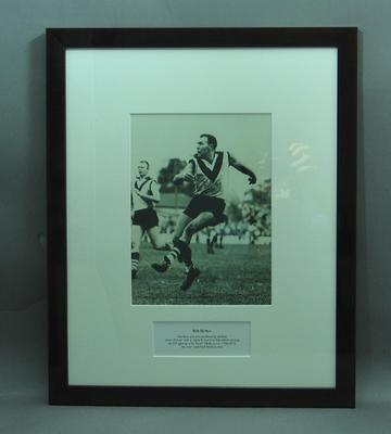 Framed photograph of Bob Skilton; Photography; Framed; M15247