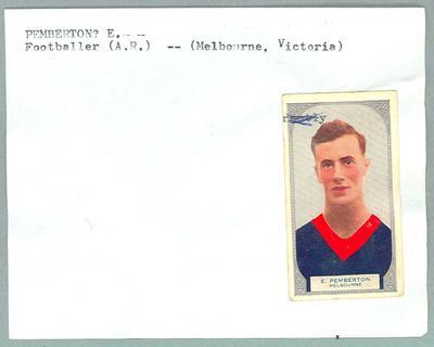 Trade card featuring Edwin Pemberton, Hoadleys Violet Nut Bar 1933