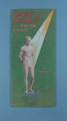 "Booklet publicising the film, ""Sport and Interest in a Fresh Light"""