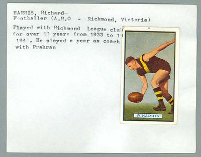 Trade card featuring Richard Harris, Allens c1930s; Documents and books; 1987.1801.95