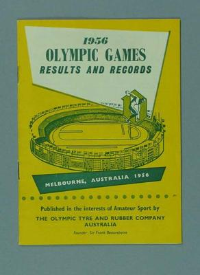 1956 Olympic Games Results and Records