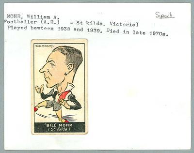 Trade card featuring William Mohr, Carreras Cigarettes 1933