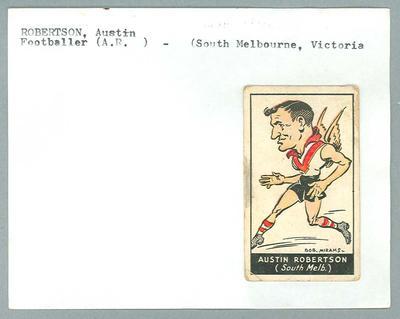Trade card featuring Austin Robertson,Carreras Cigarettes c1930s