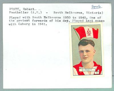 Trade card featuring Robert Pratt, Allens c1930s