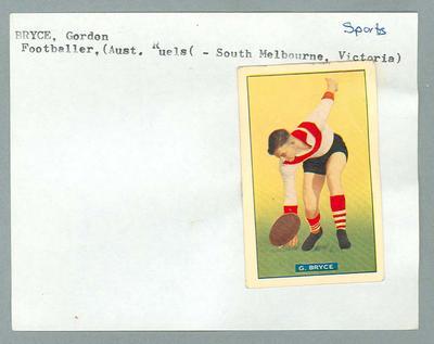 Trade card featuring Gordon Bryce, Hoadley's Chocolates c1930s