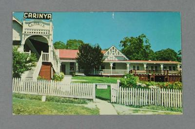 Postcard depicting Carinya Guest House at Lorne, Victoria