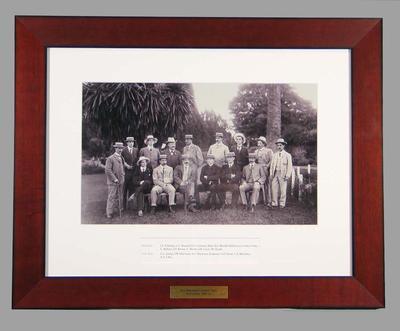 Photograph of A.C. MacLaren's English cricket team, 1901-02
