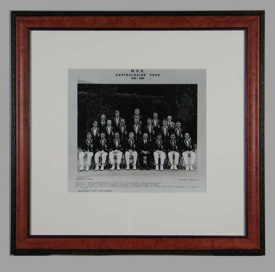 Photograph of Marylebone Cricket Club team in Australia, 1965-66