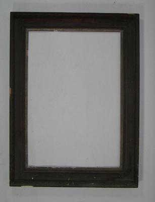 Frame, formerly housed photograph of A E Liddicut c1912