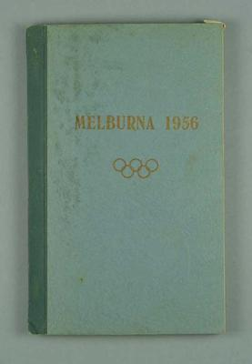 Souvenir book of 1956 Olympic Book, written in Latvian; Documents and books; 1986.914