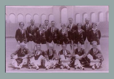 Negative of Australian 1932 Olympic Games team