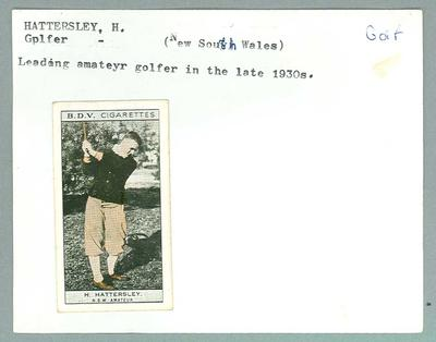 Trade card featuring H Hattersley c1930s