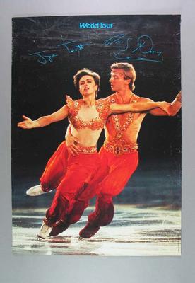 Poster advertising Torvill & Dean World Tour, c1980s