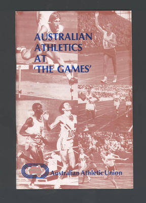 """Booklet, """"Australian Athletics at The Games"""""""