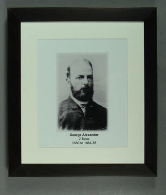 Photograph of George Alexander; Photography; Framed; M15312