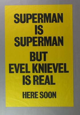 Poster advertising Evel Knievel show, c1980s