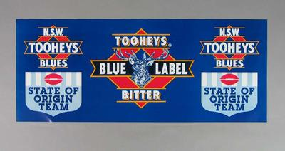 Poster, New South Wales Tooheys Blues State of Origin team 1994
