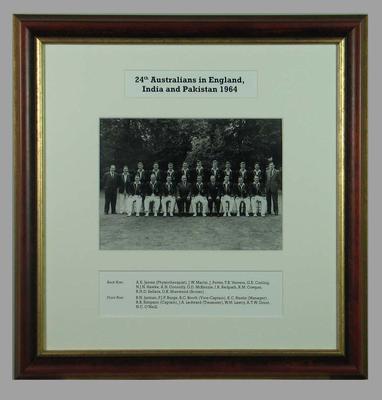 Photograph of 24th Australians in England, India & Pakistan, 1968