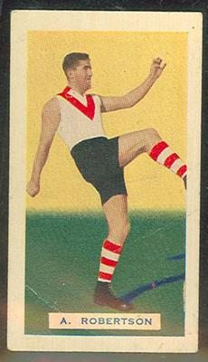 Trade card featuring Austin Robertson c1930s