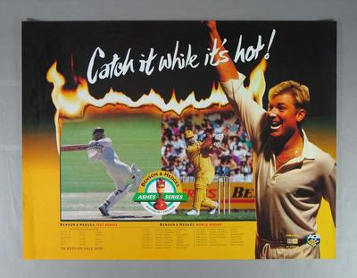 Poster, advertising 1994 Benson & Hedges Ashes Series