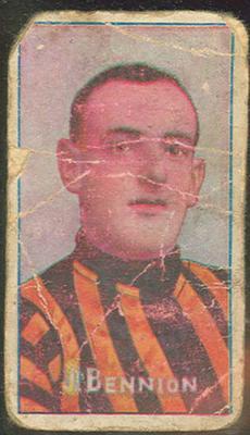 Trade card featuring W Bennion c1930s