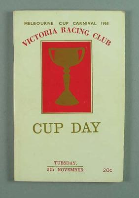 Programme, Victoria Racing Club Melbourne Cup - 5 Nov 1968
