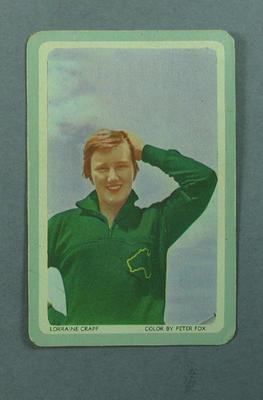 1950s Woolworths Lorraine Crapp swap card