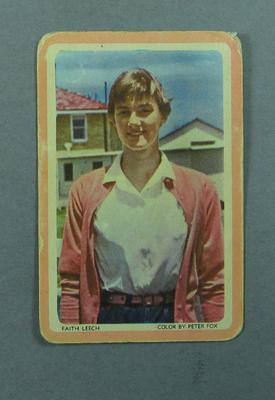 1950s Woolworths Faith Leech swap card; Documents and books; 2005.4335.5