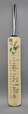 2003 Cricket World Cup commemorative bat, signed by Kenyan team
