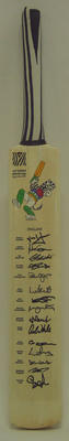 2003 Cricket World Cup commemorative bat, signed by English team