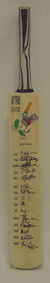 2003 Cricket World Cup commemorative bat, signed by West Indian team