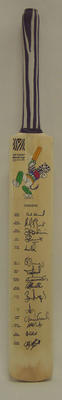 2003 Cricket World Cup commemorative bat, signed by Zimbabwean team