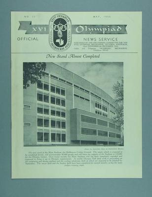 XVI Olympiad Official News Service magazine No.11, May 1956