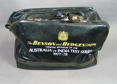 Carry bag for Australia vs India Test Series 1977-78, issued to Rick Darling