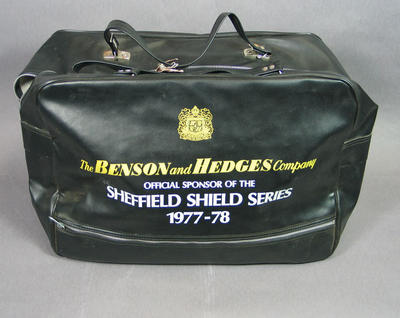 Carry bag for Sheffield Shield Series 1977-78, issued to Rick Darling