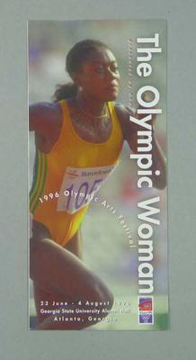 Leaflet, 1996 Atlanta Olympic Games Arts Festival
