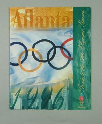 Guide book, 1996 Atlanta Olympic Games; Documents and books; 1996.3207.7