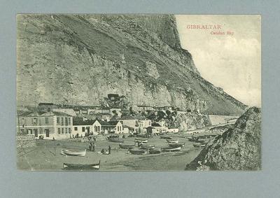 Postcard, image of Gibraltar