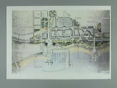 Map, detailing development of 1992 Olympic Village in Barcelona