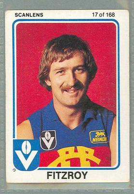 1981 Scanlens VFL Football Bernie Quinlan trade card
