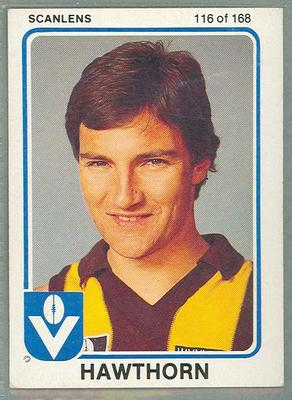 1981 Scanlens VFL Football John Hendrie trade card; Documents and books; 1986.6.9