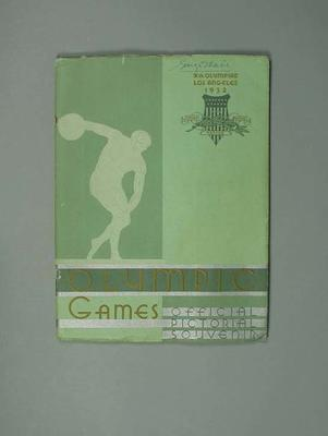 Book, 1932 Olympic Games: Official Pictorial Souvenir