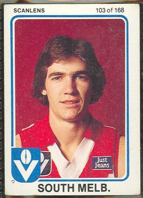 1981 Scanlens VFL Football Tony Morwood trade card