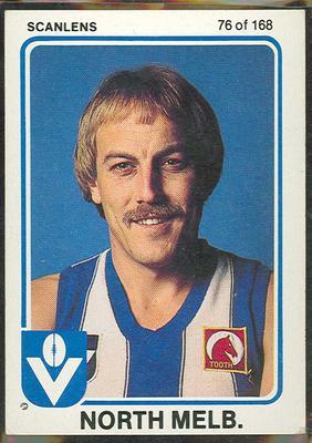 1981 Scanlens VFL Football Malcolm Blight trade card